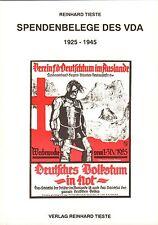 1008: Spendenbelege des VDA 1925 - 1945, Reinhard Tieste