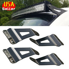 2 Pair Universal Fit Curved Straight LED Light Bar Mounting Brackets Holder