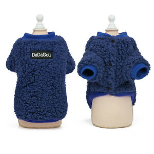Fleece Winter Dog Clothes for Small Dogs Pet Cat Boy Girl Warm Coat Outfit Vest