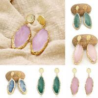 Fashion Drop Women Natural Stone Irregular Geometry Jewellery Ear Stud Earrings