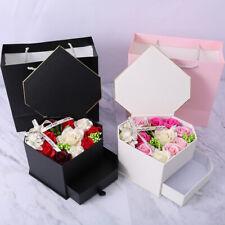Dual-layer Heart Shape Valentine's Day DIY Soap Flower Rose Box Bouquet HomeGift