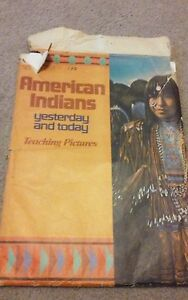 Yesterday & Today 24 School American West Poster Teaching Pictures 1972 Vintage