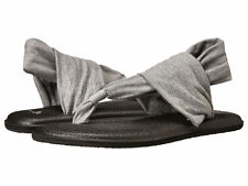 Women Sanuk Yoga Sling 2 Flip Flop Sandal SWS10001 Grey 100% Original Brand New