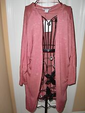 "NWT Women's""COTTON ON""Dusty Salmon Cotton/Polyester Wrap/Sweater  size M CUTE!"