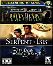 Hidden Object Adventure 3 Pack Ravenhearst, Serpent of Isis & Strange Cases NEW™