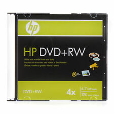 2 HP 4X DVD+RW DVDRW ReWritable Blank Disc Storage Media 4.7GB