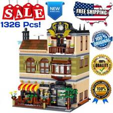 Brickstive City MOC Sets The Chinese Restaurant Model Building Blocks Toys Kids