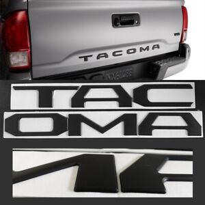 3D Raised Matt Black Emblem Badge Letters For 16-20 Toyota Tacoma Tailgate