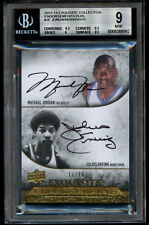 2012-13 Exquisite Dual Endorsements Michael Jordan Julius Erving BGS 9 Auto 10