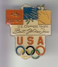 RARE PINS PIN'S .. OLYMPIQUE OLYMPIC JEUX 2002 HANES FASHION SALT LAKE USA ~17