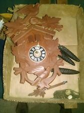 VINTAGE KAISER WALZER CUCKOO CLOCK GERMANY USED parts black forest LADOR
