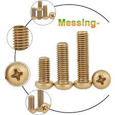 Brass Button Head Screws M2 M2.5 M3 M4 M5 M6 DIN 7985 Phillips Machine Screw
