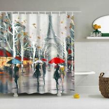 Shower Curtain Bathroom Drape Hanging Panel Decor 180x180cm with Hook Paris