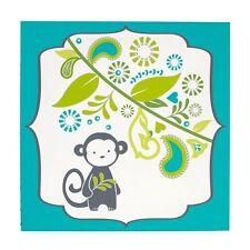 Happy Chic Baby by Jonathan Adler Safari Monkey Canvas Wall Art Nursery Decor