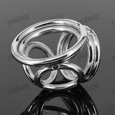304 Stainless Steel Male Chastity Device Four Rings & Ball Enhancer Small size