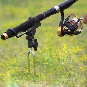 Adjustable Fishing Rod Pod Pole Holder Mount Bracket Stainless Steel Ground