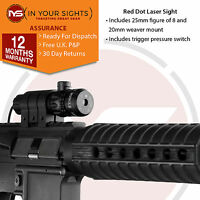 Air Rifle/ Airsoft gun red dot laser sight scope + trigger switch + mounts