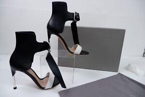 Alexander McQueen Womens Heels, Uk 4 Eu37 Black & White Leather, NEW