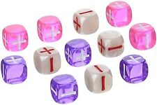 Fate Dice for Fate & Fudge Games by Evil Hat Productions - 12 D6 Valentine Dice