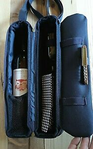 Picnic at Ascot Wine Cooler Carrier with Strap - 2 Glasses, Napkins & Corkscrew