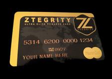 Zblackcard|World's First Metal Prepaid MasterCard/Visa that Builds Credit!