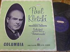 33CX 1157 Schubert Incidental Music to Rosamunde / Kletzki GROOVED B/G