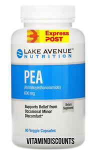 PEA (Palmitoylethanolamide), 600 mg Per Serving, 90 Veggie Capsules