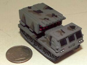 Small Mini Hot Wheels Plastic M-270 MLRS in 2 Tone Gray Camouflage