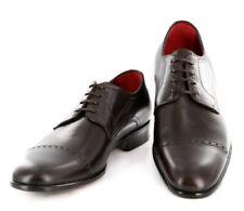 New $1100 Paolo Scafora Dark Brown Shoes - 10.5/9.5 - (GENRUSS/BOL/FERTMORO)