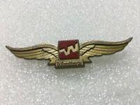 Vtg Western Airlines Jr. Pilot Kids Flying Wings Plastic Pin Flying Souvenir