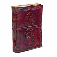 Fair Trade Handmade Sitting Dragon Leather Journal Notebook Diary 2nd Quality