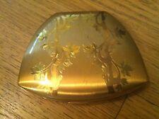 New listing Elegant Vintage Elgin American Goldtone Compact - Made in U S A5.000