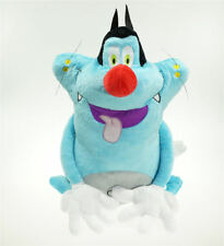 Oggy and the Cockroach Plush Doll 12 inch Silly Blue Cat Soft Stuffed Toy Xmas