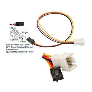 Works 22-100-26 Fan 3-Pin To Dell Proprietary 3-Pin Cable Adapter 7 in. Long