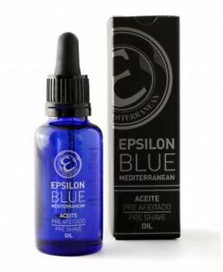Pre Shave Oil Blue Mediterranean 30ml Eplison Made IN Spain Classic Razor