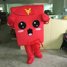 2018 Adult Red Envelope Mascot Costume Suit Cartoon Character Lucky Year Dress