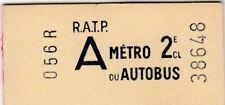 Alte Fahrkarte Metro Autobus  (G4395)