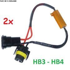 2x CANCELADOR ERROR CANBUS BOMBILLA HB3 HB4 H10 9005/6 ANTI PARPADEO COCHE MOTO