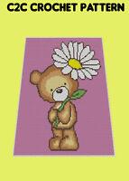 Bear With Daisy Blanket  - C2C/Graphghan Crochet Pattern