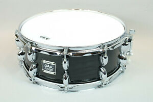 "Yamaha Oak Custom 14"" Snare Black lacquer used Excellent Condition 5.5"" x 14"""