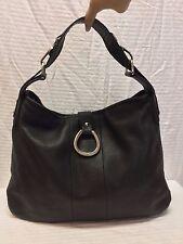 Franco Sarto Black Leather Shoulder Bag, Purse, Bag