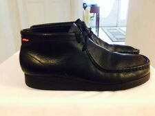 MENS CLARKS PADMORE WALLABEE BLACK LEATHER CHUKKA ANKLE BOOTS SIZE 11M