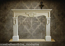 Empire Fireplace Stone Camino Stile Impero Pietra Leccese VINTAGE HOME DESIGN