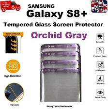Full 3D Curved Tempered Glass Screen Protector for Samsung S8 PLUS Orchid Gray