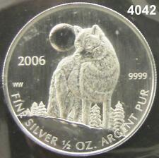 2006 CANADA $1 - .999 SILVER 1/2 OZ WOLF MINT SEALED #4042