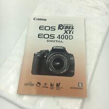 Canon EOS 400D Rebel XTi Digital Camera Instruction Manual/Book, Spanish