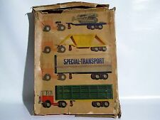 RARE TRUCK SET SPECIAL TRANSPORT 5010 MADE IN GERMANY MS tin toy Zugmaschine