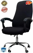 Office Computer Chair Slipcovers Universal Stretch Desk Cover Black Large Size