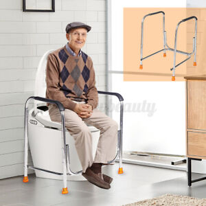 Toilet Safety Hand Rail Support Bar Handrail Bathroom Seat Frame Disabed Medical