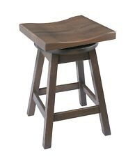 Swivel Urban Quarter Sawn Oak Stool in Counter and Bar Height- Multiple Stains